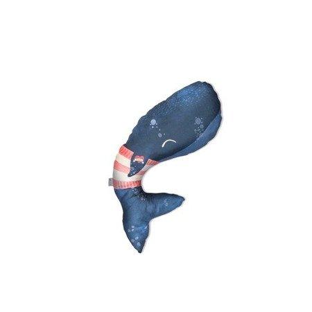 Baby Bites Poduszka do karmienia Whale 55x35 cm Navy Blue