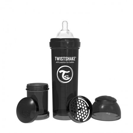 Twistshake Antykolkowa butelka do karmienia 330ml czarna