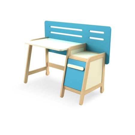 Biurko z kontenerkiem niebieskie wersja LIGHT (tańsza) Timoore Simple