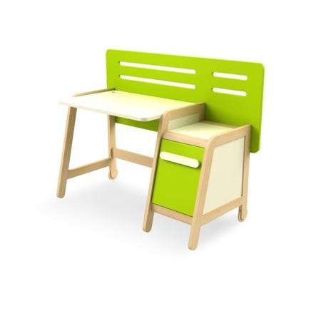 Biurko z kontenerkiem zielone wersja LIGHT (tańsza) Timoore Simple
