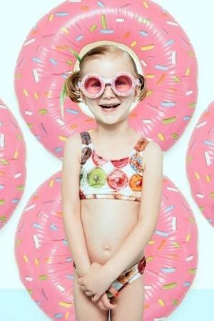 Bling2o Okulary do pływania posypka cukrowa różowe