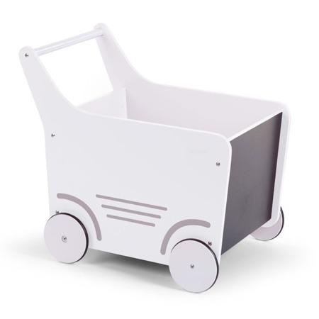 Childhome Drewniany wózeczek Biały