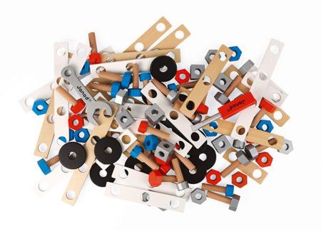 Drewniany zestaw konstruktora 50 elementów Janod