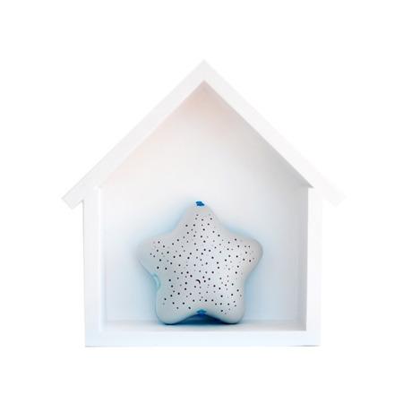 Dziecięca półeczka mały domek, Biały