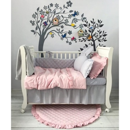 Falbanka pod materac na przód łóżeczka 60/120 biała, Dolly