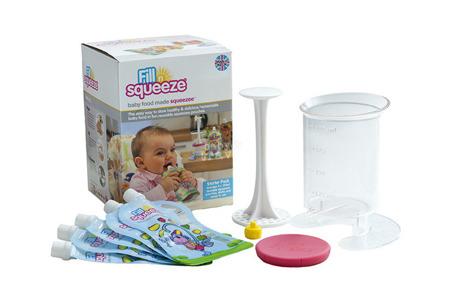 Fill'n Squeeze zestaw startowy z saszetkami do karmienia dzieci i szczoteczką