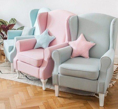 Fotel do karmienia różowy