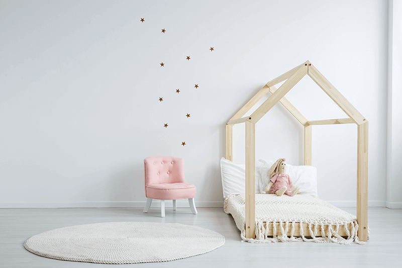 Fotelik Dziecięcy Len Pudrowy Róż