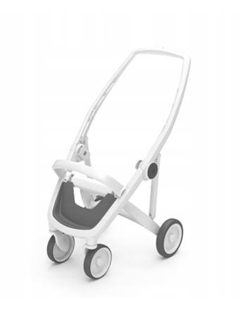 Greentom Classic Wózek spacerowy EKO biało-oliwkowy