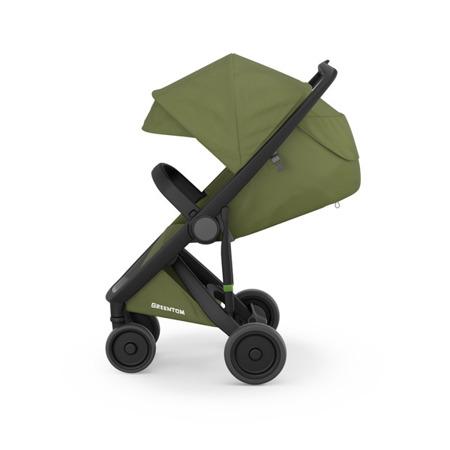 Greentom Classic Wózek spacerowy EKO czarno-oliwkowy