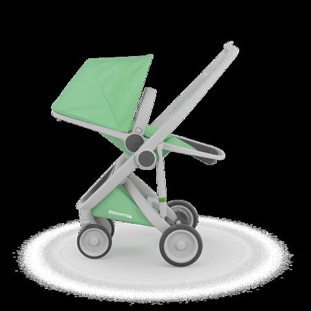 Greentom REVERSIBLE Wózek spacerowy eko szaro-miętowy