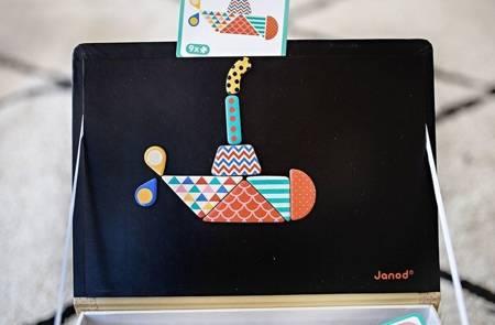 Janod Magnetyczna układanka Magnetibook Kształty