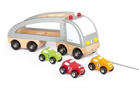 Janod, Samochód drewniany laweta do ciągnięcia