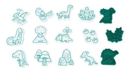 Janod Zestaw kreatywny Stempelki Dinozaury