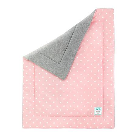Kocyk ocieplany  Lovely Dots Pink&Grey