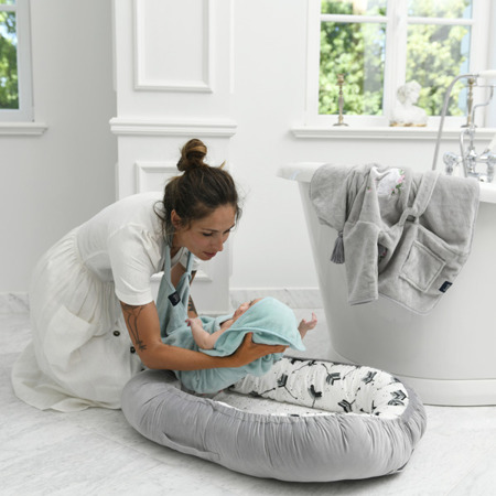 La Millou Ręcznik Bamboo Soft Newborn Hello World mint