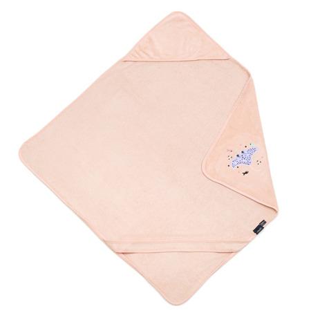 La Millou Ręcznik Bamboo Soft Newborn Manta Ray Purple powder pink