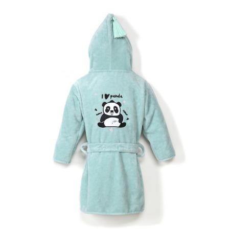 La Millou Szlafrok Bamboo Soft M I love Panda mint