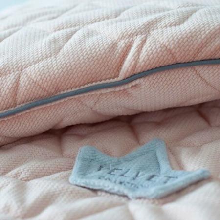 La Millou VELVET COLLECTION - OCHRANIACZ DO ŁÓŻECZKA 70x140cm - Powder Pink
