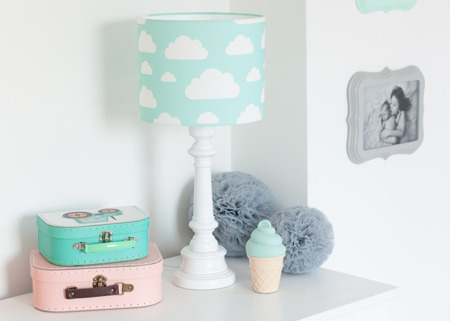 Lampa dla dzieci Chmurki Mint