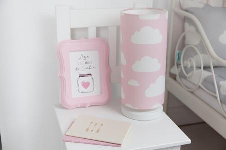 Lampka nocna dla dzieci Chmurki Pink