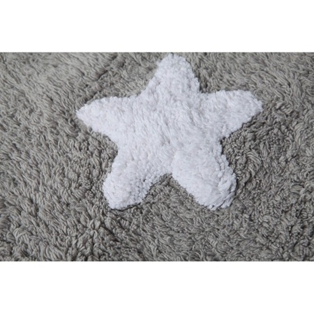 Lorena Canals Grey Stars White 120x160cm
