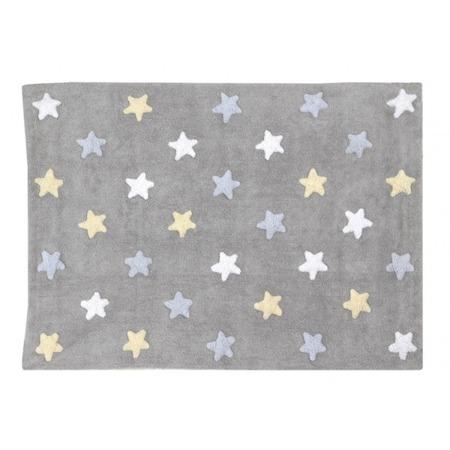 Lorena Canals Tricolor Star Gris/Azul120x160cm