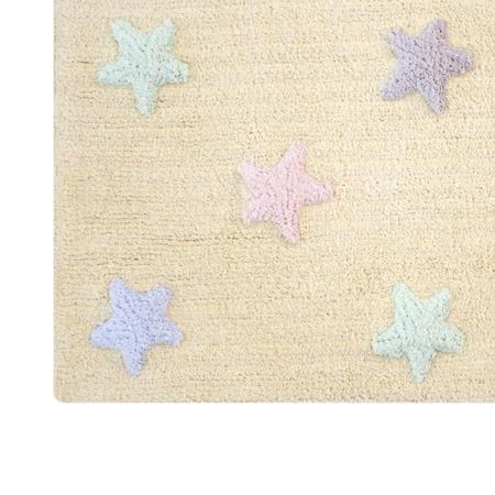 Lorena Canals Tricolor Star Vanilla 120x160cm