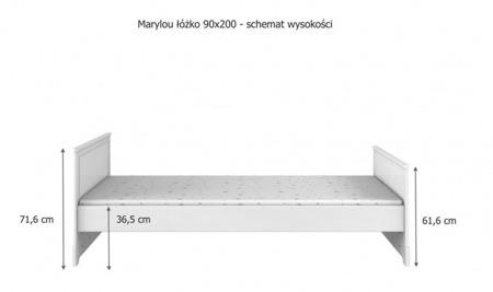 Łóżko 90x200cm Bellamy Marylou