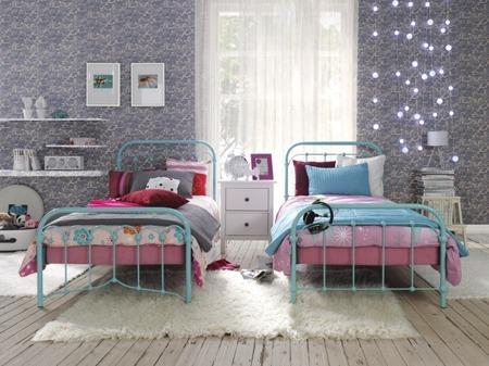 Łóżko metalowe dziecięce Babunia 90/200 białe