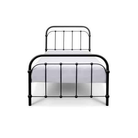 Łóżko metalowe dziecięce Babunia 90/200 czarne