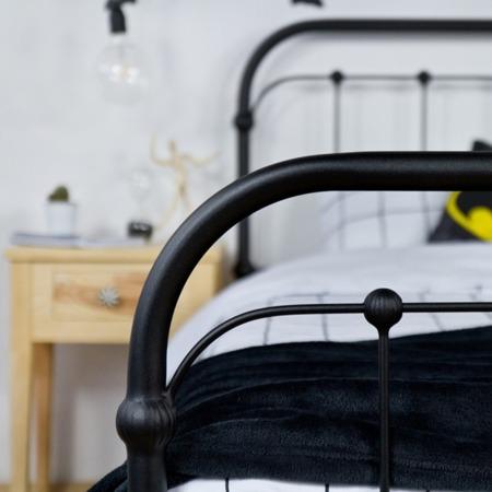 Łóżko metalowe młodzieżowe Babunia 120/200 czarne