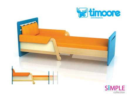 Łóżko rozsuwane Timoore  niebieskie Simple