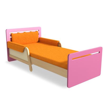 Łóżko rozsuwane pomarańczowe Timoore Simple
