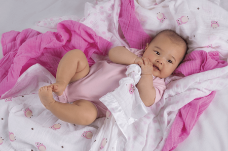 Lulujo, mini pieluszki pretty in pink różowe