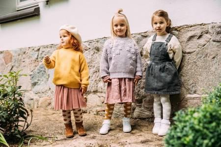 Mama's Feet Rajstopy Grochy musztardowo-białe 0-2 lat