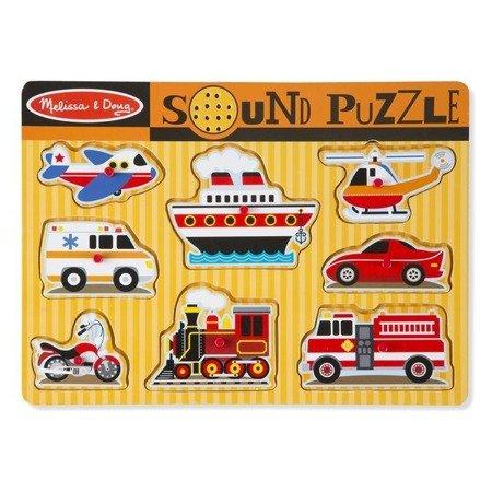 Melissa & Doug Puzzle drewniane dźwiękowe Pojazdy