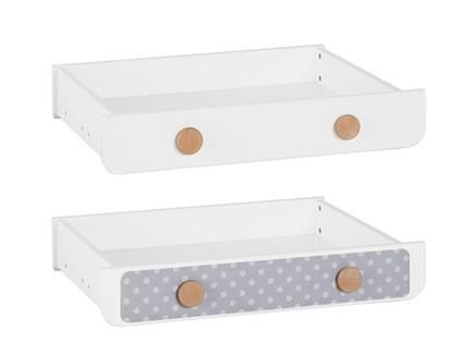 Nakładka tekstylna na szufladę do łóżek 120x60, 140x70, 200x90 Pinio Iga