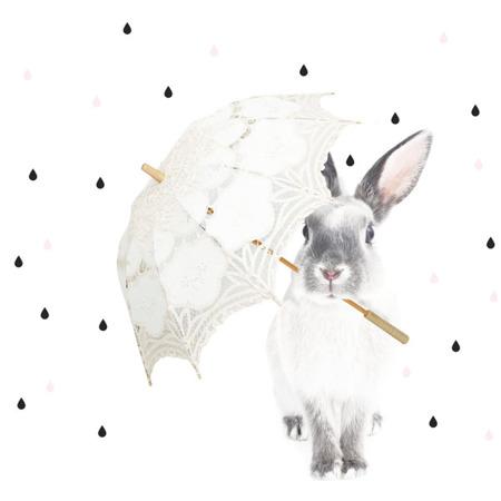 Naklejka Królik Harry w deszczu S, Dekornik