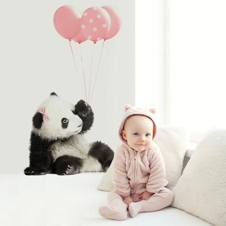 Naklejka Panda Balony Róż S, Dekornik