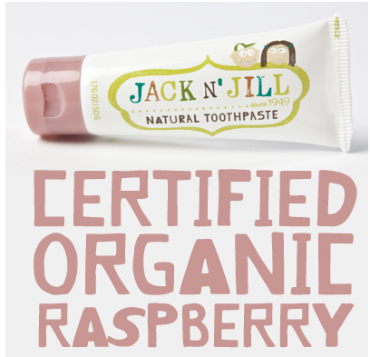 Naturalna pasta do zębów organiczna Malina i Xylitol, Jack N'Jill