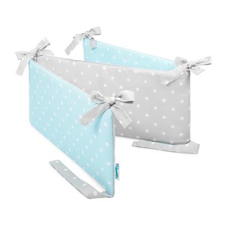 Ochraniacz do łóżeczka Lovely Dots Mint&Grey