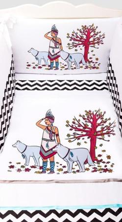 Ochraniacz na całe łóżeczko, Indianka 30x360cm