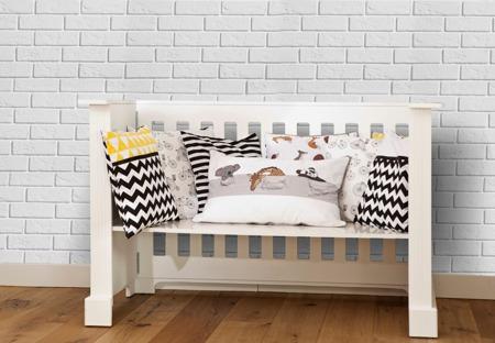 Ochraniacz na całe łóżeczko, śpiące zwierzątka 30x420cm