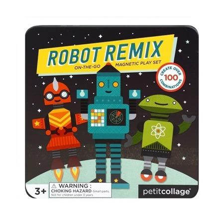 Petit Collage Magnetyczne postacie Robot Remix