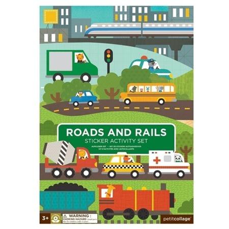 Petit Collage Naklejki wielorazowe Roads & Rails