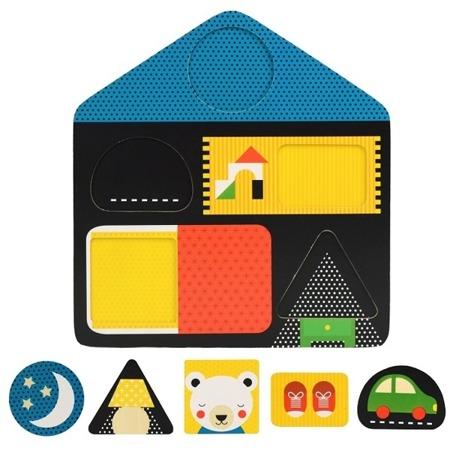 Petit Collage Puzzle dwustronne Domek