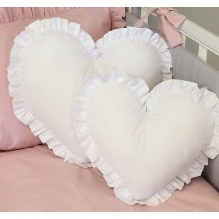 Poduszka Serce duże białe, Dolly
