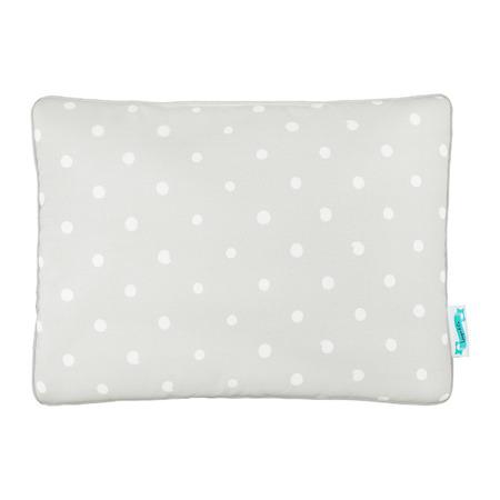 Poduszka bawełniano - welurowa Lovely Dots Grey