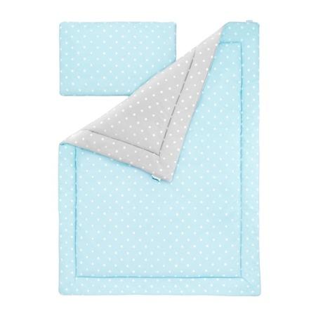 Poduszka bawełniano - welurowa Lovely Dots Mint